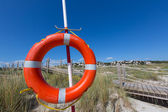 Alaior Cala Son Bou in Menorca round buoy at Balearic — Stock Photo