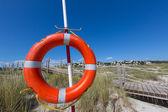 Alaior Cala Son Bou in Menorca round buoy at Balearic — Stock Photo