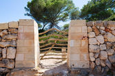 Menorca traditional wooden fence gate in Balearic islands — Stock Photo