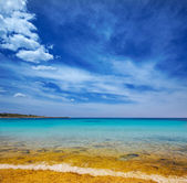 Menorca Son Saura beach in Ciutadella turquoise Balearic — Stock Photo