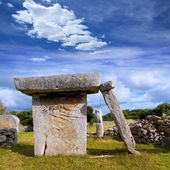 Menorca Taules of Talati de Dalt prehistoric tables — Stock Photo