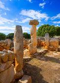 Taules of Menorca Torre de Gaumes Galmes at Balearics — Stock Photo