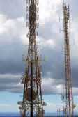 Telecommunications tower telephony repeaters in Menorca — Stock Photo