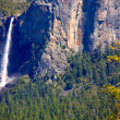 Yosemite Bridalveil fall waterfall at National Park — Stock Photo