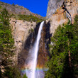 Yosemite Bridalveil fall waterfall California — Stock Photo
