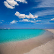 Formentera Illetes Illetas tropical beach near Ibiza — Stock Photo