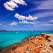 Formentera Cala Saona beach Balearic Islands — Foto de Stock