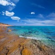 Formentera Mitjorn  beach with turquoise Mediterranean — Photo
