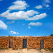 FormenterCalSaonbeach masonry fishermen houses — Stock Photo #36039891