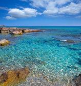 Formentera Mitjorn beach with turquoise Mediterranean — Stock Photo