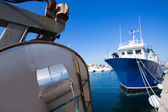 Formentera marina trawler fishing boats — Stock Photo