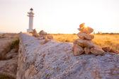 Barbaria cape Lighthouse in Formentera Balearic islands — Stock Photo