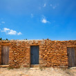 Stock Photo: FormenterCalSaonbeach masonry fishermen houses
