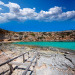 Formentera Cala en Baster in Balearic Islands of Spain — Stock Photo