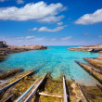 пляж escalo Форментера де Сан Августин — Стоковое фото #36047031