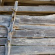 Stock Photo: Ibizformenteraged weathered wooden wall