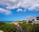 Es calo de san Agustin Beach white houses in Formentera — Stock Photo