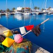 Stock Photo: FormenterBalearic Islands fishing tackle nets longliner