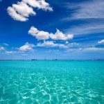 Форментера illetes illetas тропический пляж вблизи ibiza — Стоковое фото #36055687