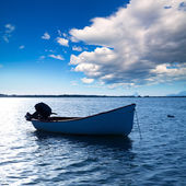 Boat in Estany des Peix at Formentera Balearic Islands — Stock Photo