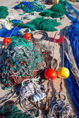 Formentera Balearic Islands fishing tackle nets longliner — Stock Photo