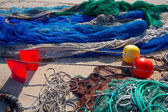 Formentera Balearic Islands fishing tackle nets longliner — Stock Photo