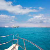 Illetes Illetas Formentera yacht sailboats anchored — Stock Photo
