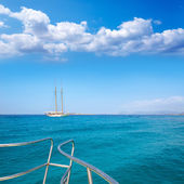 Illetes Illetas Formentera yacht sailboat anchored — Stock Photo
