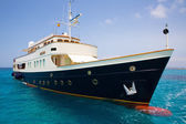 Illetes Illetas Formentera yacht anchored — Stock Photo