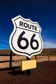 Route 66 road sign in Arizona USA — Stock Photo