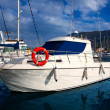 Stock Photo: Boat moored in Mediterranemarinin DeniAlicante