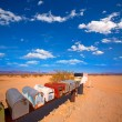 Stock Photo: Grunge mail boxes in CaliforniMohave desert USA