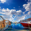 Denia Alicante port with blue summer sky in Spain — Stock Photo