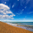 Denia Alicante beach with blue summer sky in Spain — Stock Photo