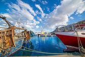 Denia Alicante port with blue summer sky in Spain — Stock Photo