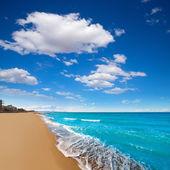 Denia Alicante beach with blue summer sky in Spain — Foto de Stock