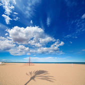 Gandia Beach sand in Mediterranean Sea of Spain — 图库照片
