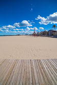 Gandia Beach sand in Mediterranean Sea of Spain — Stockfoto