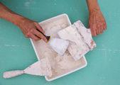 Platering tools for plaster like plaste trowel spatula — Foto Stock