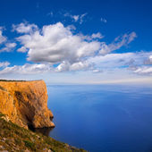 San Antonio Cape high angle view of Mediterranean Sea — Stock Photo