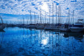 Denia Marina Port in alicante Province Mediterranean — Stock Photo