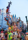 Fallas is a popular fest in Valencia Spain figures will be burne — Stock Photo