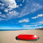 Mediterranean sand beach in Valencian community Spain — Foto Stock