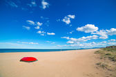 Mediterranean sand beach in Valencian community Spain — Stock Photo