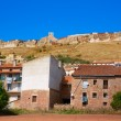 Stock Photo: Cedrillas village Teruel skyline famous for cattle fair
