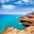 DeniAlicante Las rotas rocky beach in Spain — Stock Photo #37648435