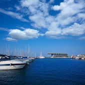 Denia marina boats in alicante Valencia Province Spain — Stock Photo