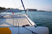 Denia marina boats in alicante Valencia Province Spain — Stock Photo