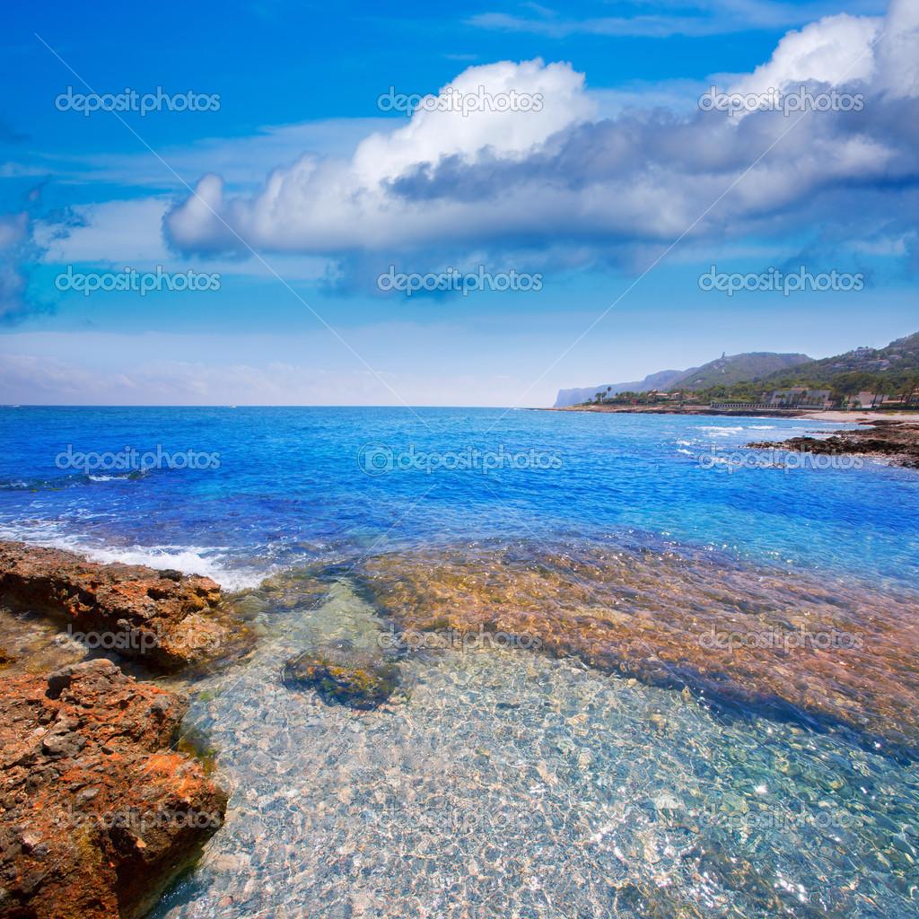 Playa denia alicante las rotas rocoso en espa a foto de - Stock uno alicante ...