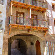 Mora de Rubielos in Teruel Aragon stonewall village — Stock Photo